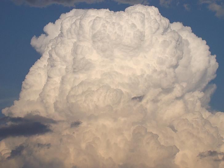 ระบบคลาวด์, ท้องฟ้า, เมฆ, พายุ, สีขาว, เมฆฟ้าผ่า