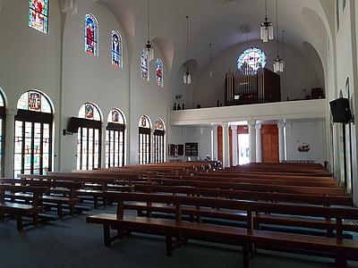 Crkva, Vitraj, vitraž prozora, obojeni, religija, Isus, kršćanski