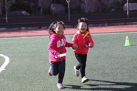 otrok, tekmovanje v teku, atletske