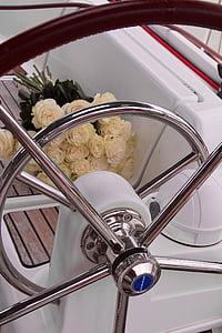 blanc, Roses, RAM, casament, flor, flor, flor