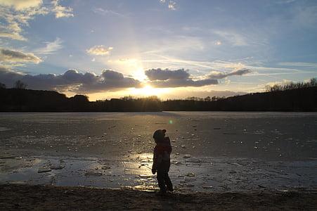 Lake, talvi, jäädytetty, vesi, maisema, Talvinen, aika vuodesta