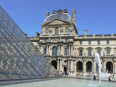 ribakardinad, muuseum, Pariis, Louvre muuseum, püramiid, saidi