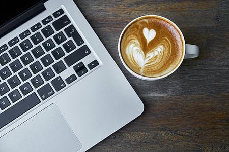 ordinador, portàtil, taula, tecnologia, close-up, Nota, prendre notes