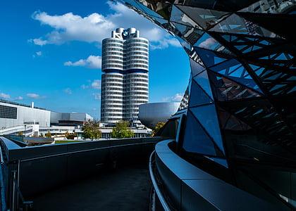 hoone, taevas, pilved, disain, City, perspektiivi, Ehitus