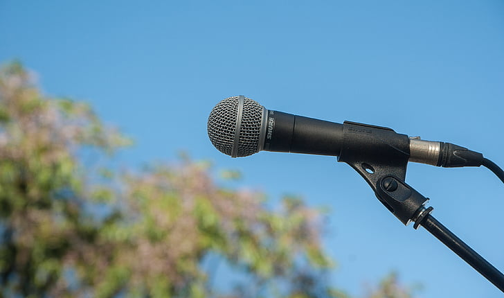 micro, sound, save, microphone, communication, clear sky, sound recording equipment