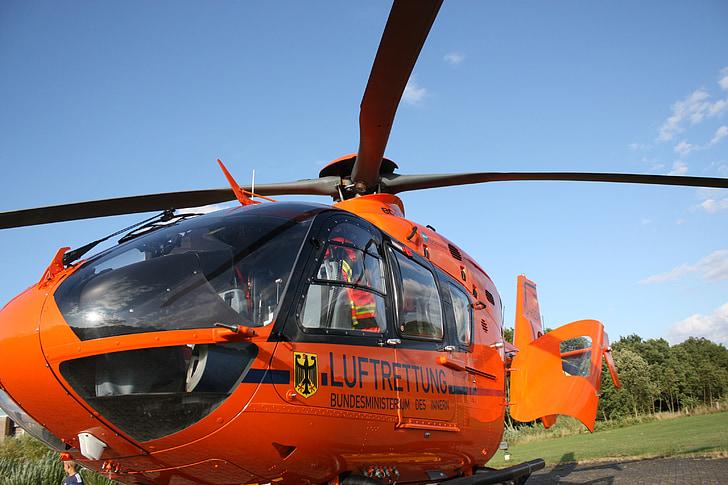 helekopter, rescat, rescat d'aire, helicòpter de rescat, helicòpter, volar, metge de Guàrdia