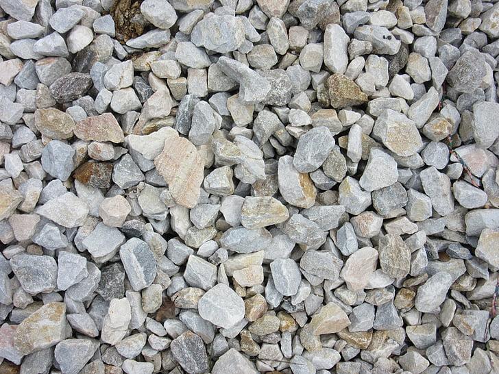 pedres, còdols, marbre, patró, Rauh, angular, molts
