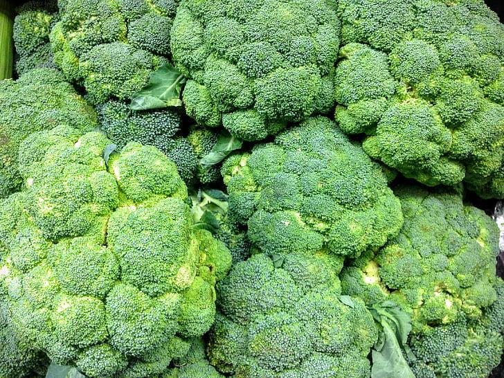 brokoli, menghasilkan, segar, Makanan, sayur, hijau, vegetarian