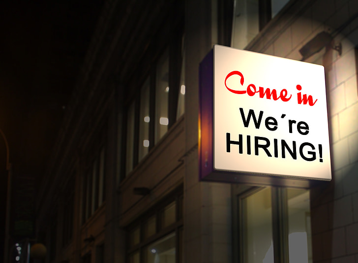 building, neon sign, communication, job, job offer, workplace, job search