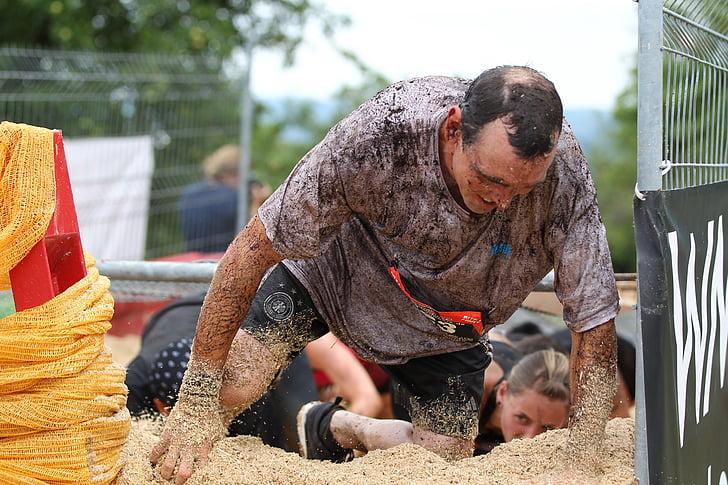 corrent, fang, cursa d'obstacles, país creu, mudrun, funcionament extrema, divertida cursa