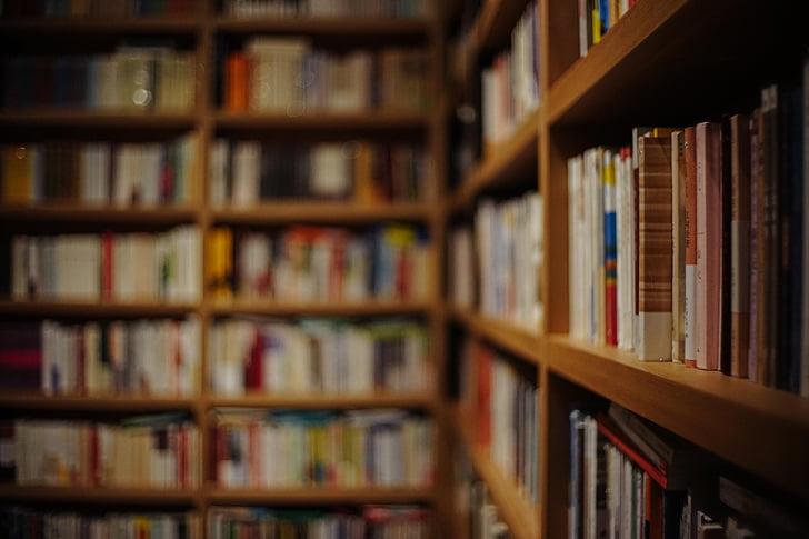 llibre, callar, una llibreria carrer anada