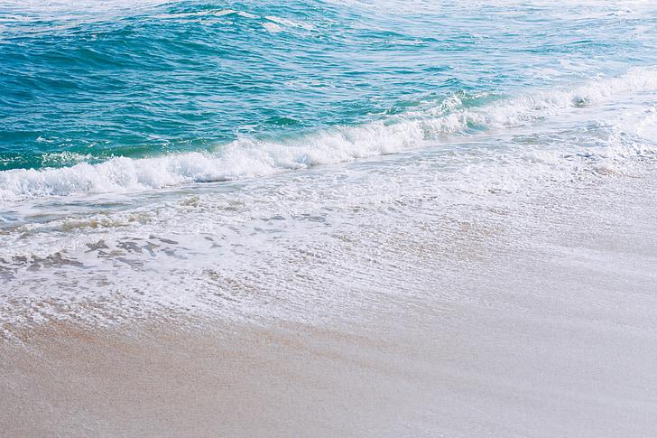 Gangneung, Sea, talvi, taivas, Korea, Beach, aallot