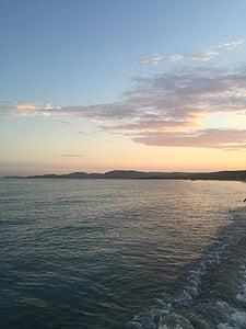 mer, coucher de soleil, océan, Dim, eau, Sky, nature