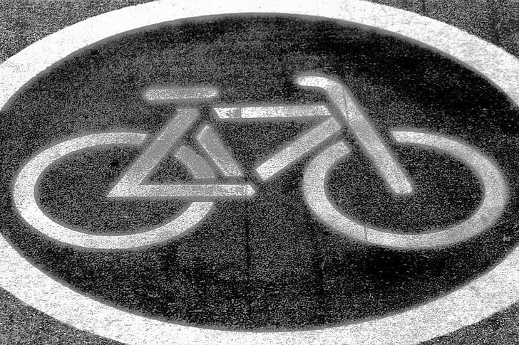 велосипед, велосипедов, велосипед знак, Дорожный знак, Велоспорт, знак, город