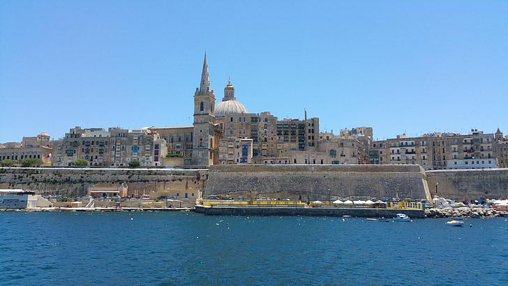 Malta, Valletta, mesto, sredozemski, kapitala, otok, malteščina