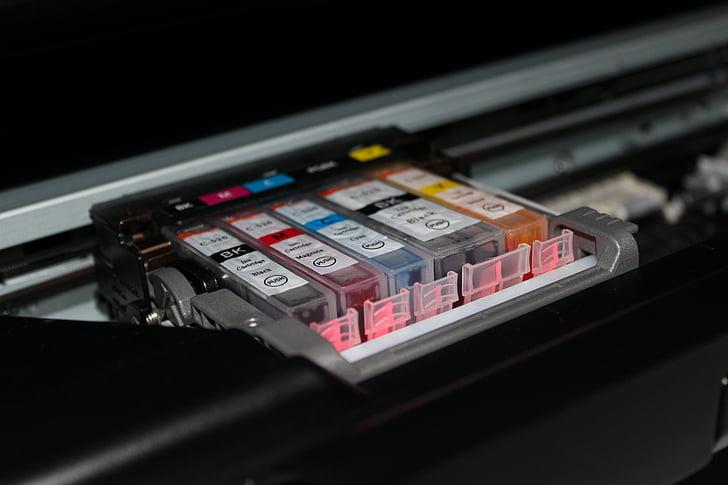 cmyk, printer, colors, print, fillings, cartridges