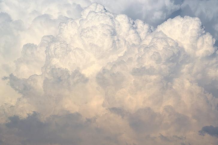 debesys, dangus, Debesis, Cumulus, Debesis - dangus, Gamta, fonai