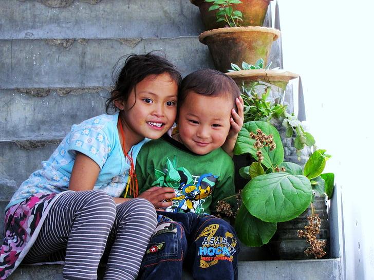 bhutan, children, paro valley, togetherness, mid adult, childhood, mid adult women