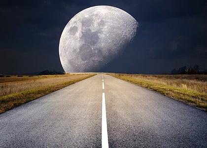 Lluna, Lluna plena, llum de lluna, súper lluna, nit, cel de nit, estat d'ànim