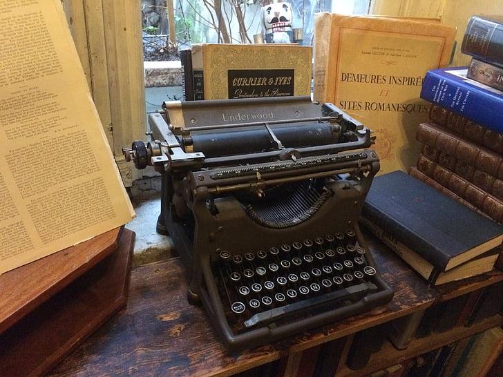 màquina d'escriure, vell, anyada