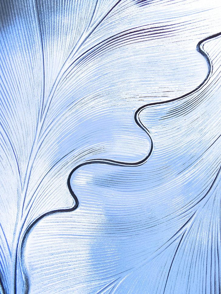 patró, estructura, estructura cristal·lina, patrons de vidres, fons, blau
