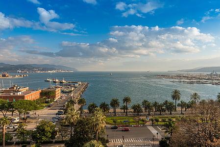táj, Port, tenger, Olaszország, tengerpart