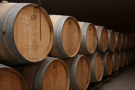 vin, röd, Bordeaux, Frankrike, fat, fat, förvaring
