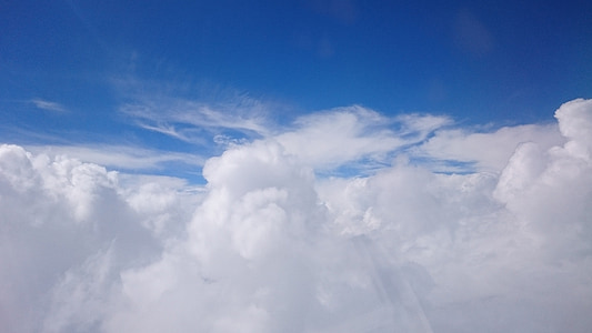 nebo, oblak, modra, bel oblak, Sivi oblaki