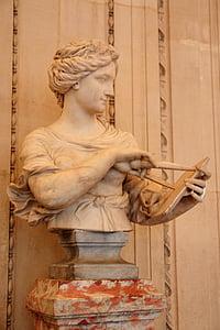 Prantsusmaa, Pariis, Louvre, muuseum, Statue, skulptuur, ehitatud struktuur