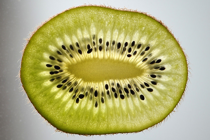 Kiwi, Kiwi skive, frugt, grøn, diske