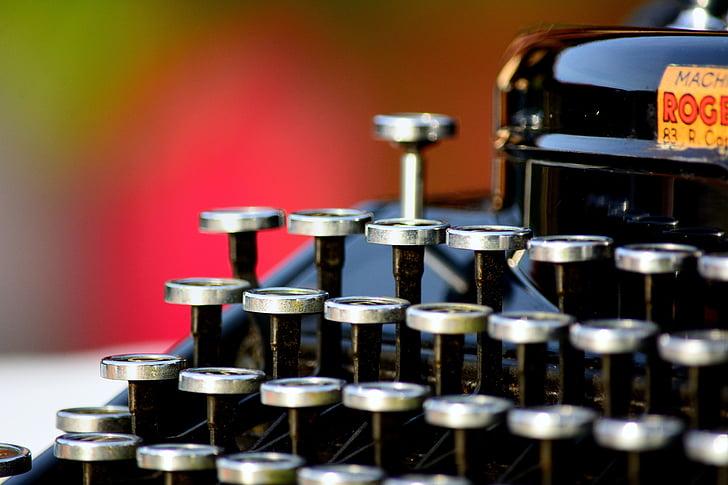 typewriter, vintage, remington, former, retro, journalism, writer