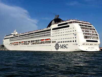 kryssningsfartyget, Venedig, kryssning, liner, fartyg, resor, havet