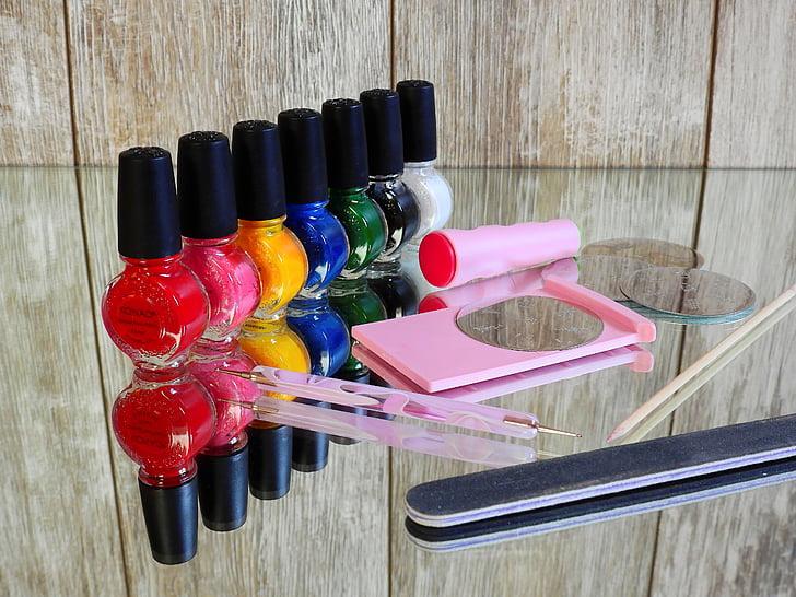 vernís d'ungles, ungles, manicura, pintura, ungles, dit del peu ungles, moda