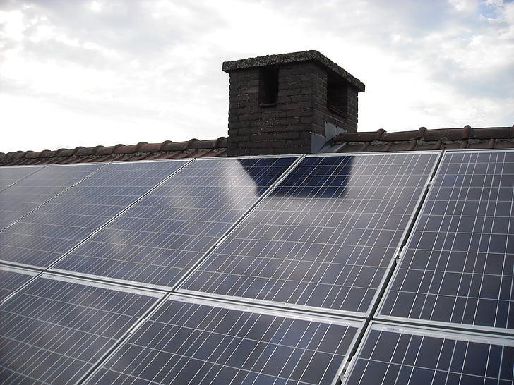 Solárne panely, zelenej energie, Zelená energia, elektrickej energie, strešná krytina