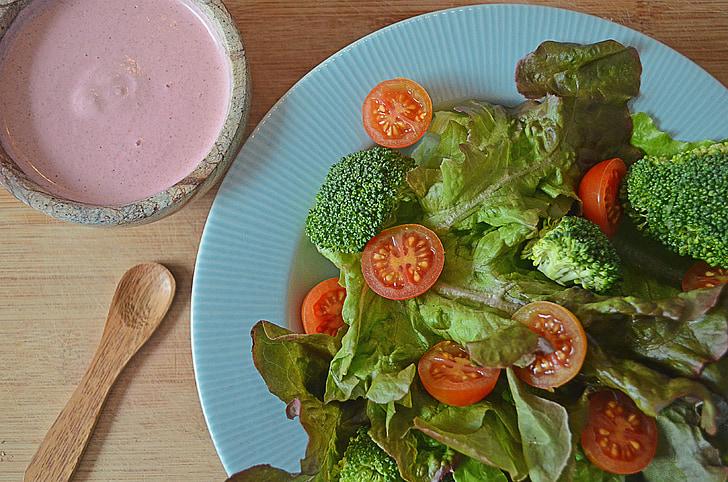 salata, vegetarijanska, zdrav, hrana, veganski