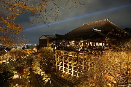 japan, osaka, osaka night view, night view, the night view of osaka, city, osaka kiyomizu temple