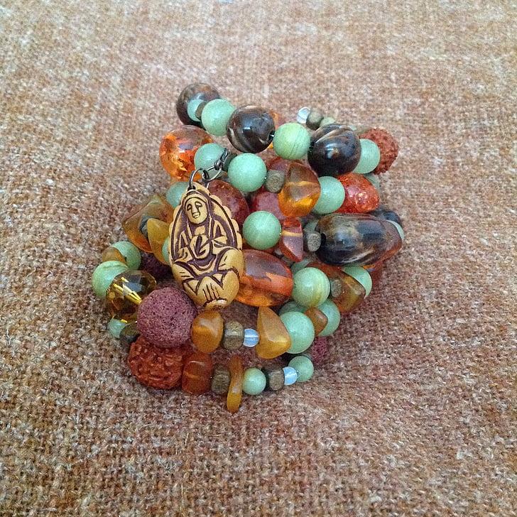 bracelet, boho, sleeping fairy, decoration, backgrounds, ornate