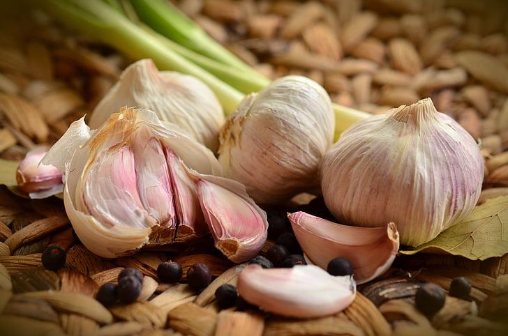 czosnek, bulwy, przyprawa, jedzenie, zioło, zapach, warzywa