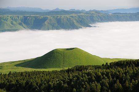 aso, komezuka, sea of clouds, cloud, kumamoto, japan, somma