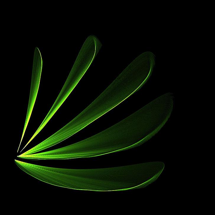 listy, Zelená, svetlé, abstraktné, pozadie
