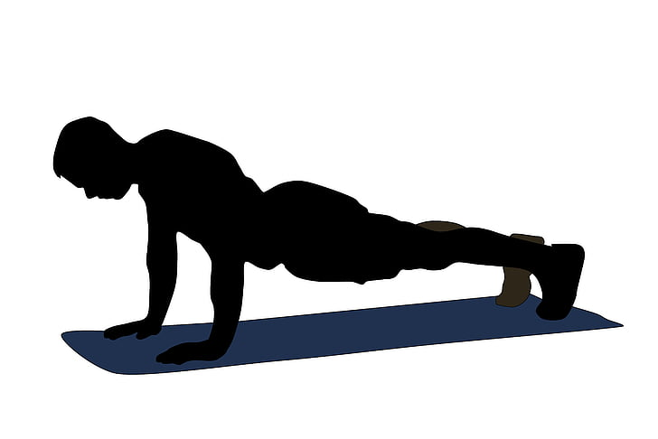 Academia, musculação, flexão, ilustração, exercício físico, atleta, exercício