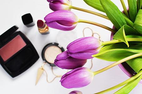 bellesa, cosmètica, flors, maquillatge, cura de la pell, glamur, Tulipa