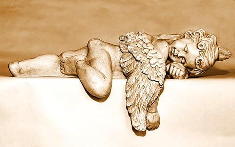 Ángel, Ángel de la guarda, figura de Ángel, Ángel de la Navidad, sueño, de mentira, ala