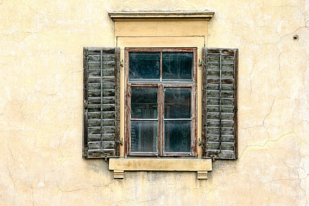 window, shutter, home, building, facade, wall, architecture