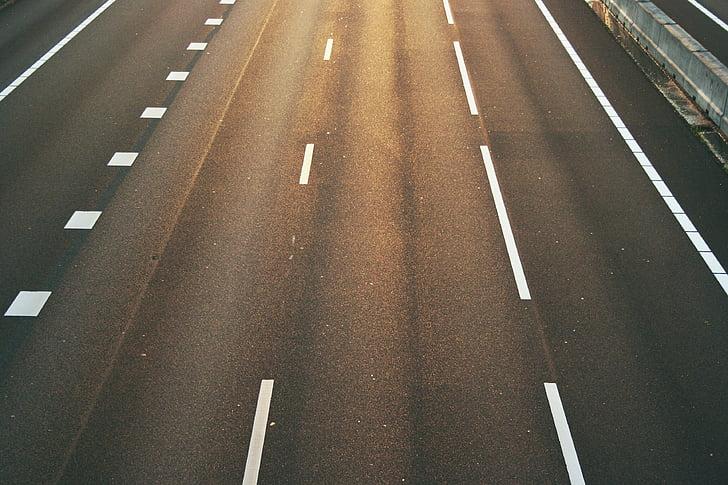 Road, motorväg, motorväg, hastighet, på språng