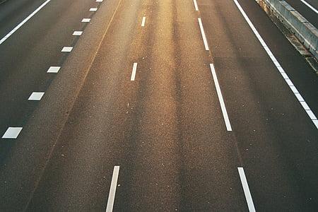 carretera, l'autopista, l'autopista, velocitat, en marxa