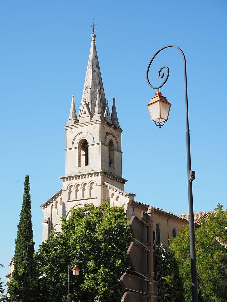 l'església, llanterna, Bonnieux, poble, comunitat, comunitat francesa, Provença