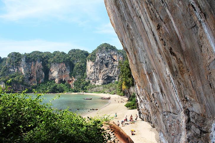 klättervägg, naturen, bergvägg, stranden, Rock, landskap, Cliff