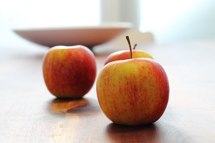 Apple, gezonde voeding, Kom, stemming