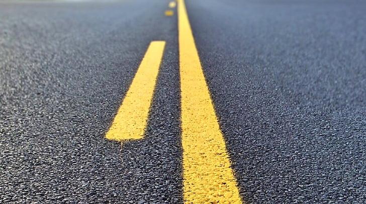 kelių, linijos, užmiestyje, asfalto, gatvė, linija, skiriamoji linija